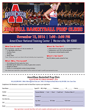 fall basketball clinic flyer