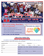 A Merry Cheer flyer