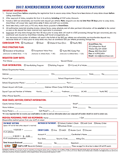 AmeriCheer registration form